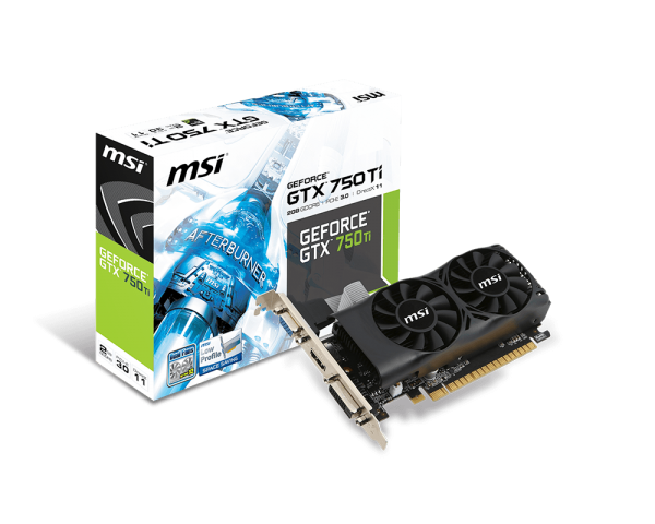 MSI GeForce GTX 750 Ti, 2GB GDDR5